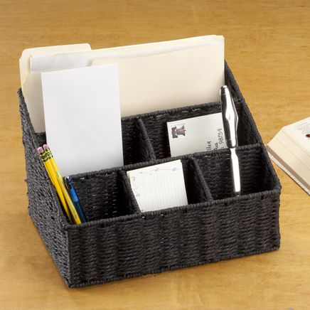 Wicker Mail Sorting Basket-359268