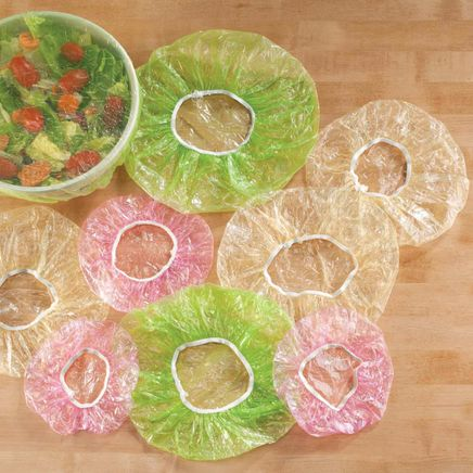 Reusable Plastic Bowl Covers, Set of 24-359685