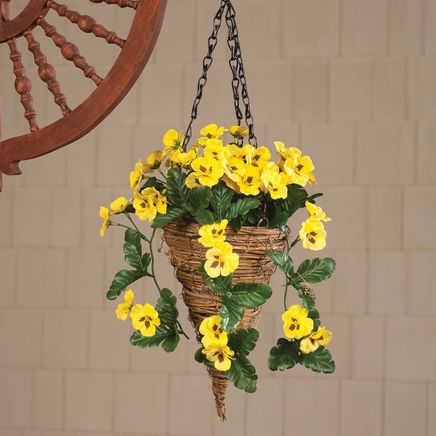 Fully Assembled Pansy Cone Basket by OakRidge™-359771