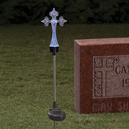 Solar LED Color-Changing Cross Stake-359830
