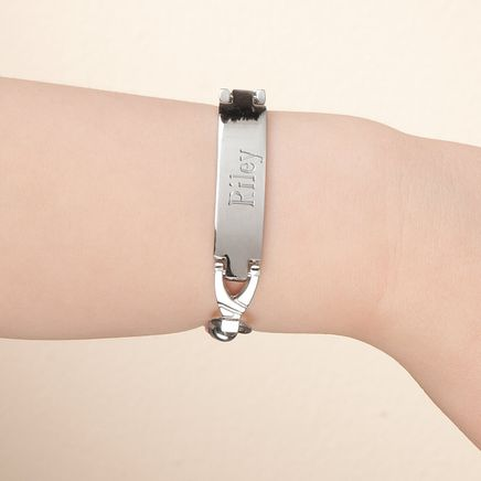Personalized Pink Childrens ID Bracelet-359998