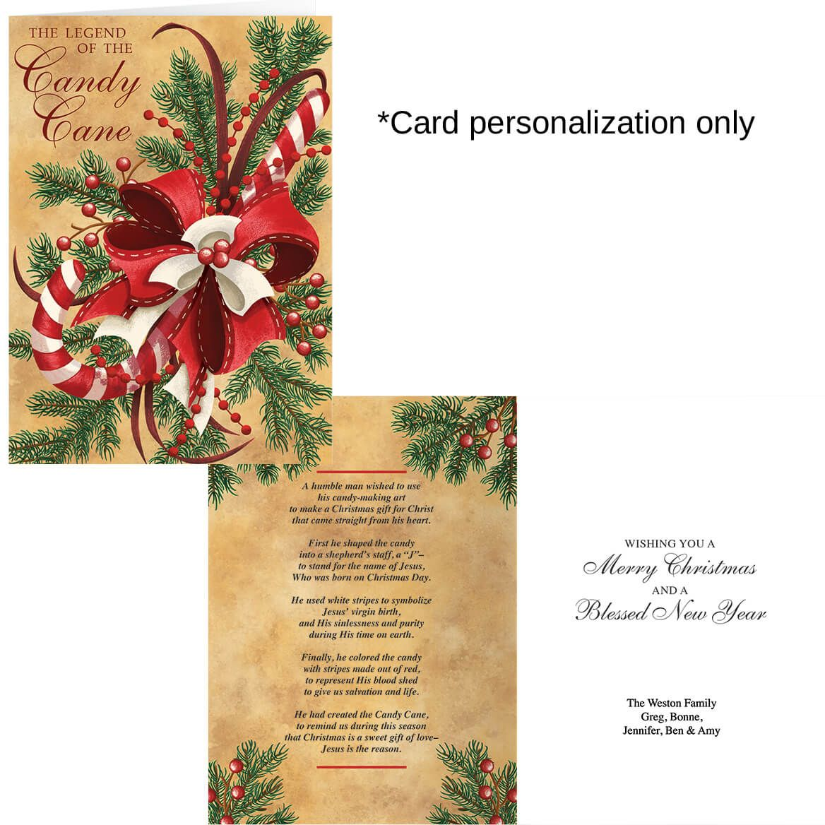 Legend of Candy Cane Christmas Card Set of 20-360215