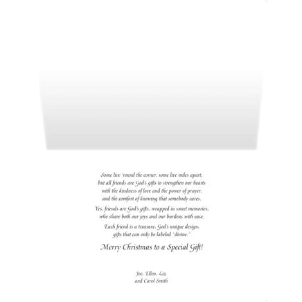 Personalized Friends are God's Gifts Christmas Card Set of 2-360219