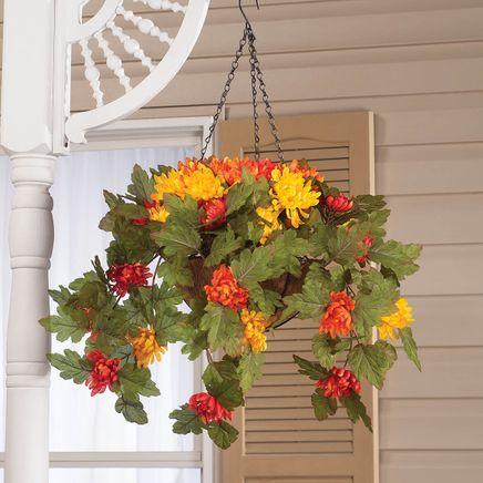 Fully Assembled Hanging Mum Basket by Oakridge Outdoor™-360308