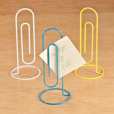 Jumbo Paper Clips Note Holder Set/3-360309
