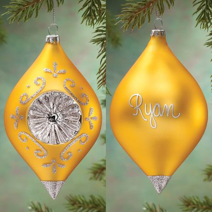 Personalized Birthstone Glass Reflector Ornament-360372