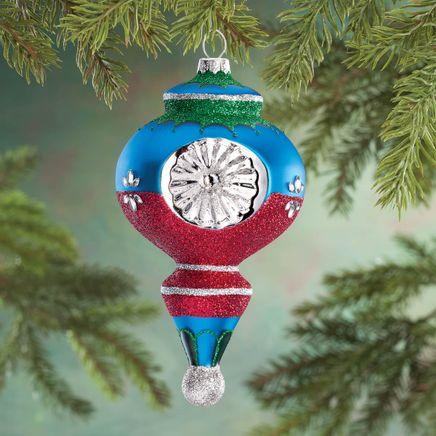 Personalized Retro Glittered Reflector Ornament-360666