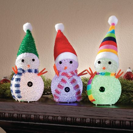 Color-Changing Snowmen, Set of 3-360899
