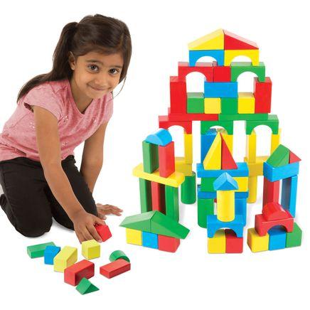 Melissa & Doug® 100-Piece Wood Blocks Set-361459