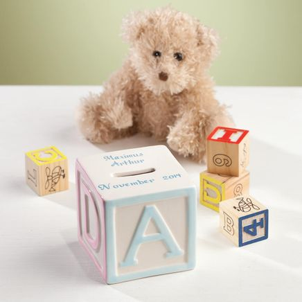 Personalized Baby Block Coin Bank-361778