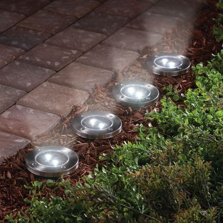 In Ground Solar Lights, Set of 4-361831