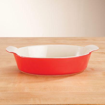Red Oval Ceramic Baker-362030