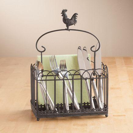 Rooster Flatware Caddie-362375
