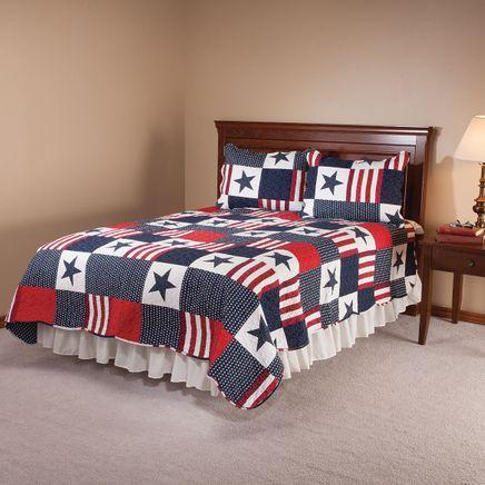Americana Microfiber Quilt Set-362664