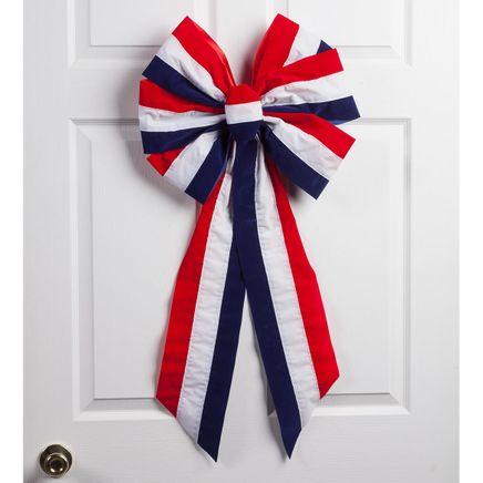 Striped Patriotic Indoor/Outdoor Bow-362917