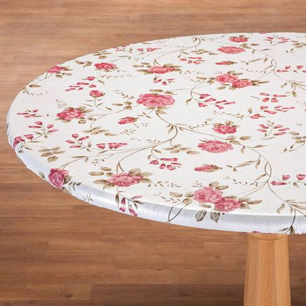Rose Trellis Elastic Vinyl Table Cover-363041