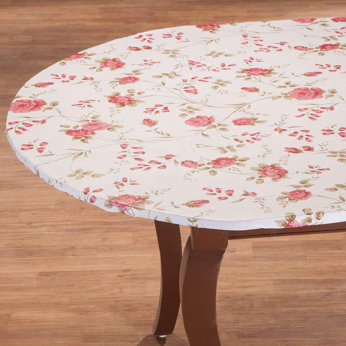 Rose Trellis Elastic Vinyl Table Cover-363041