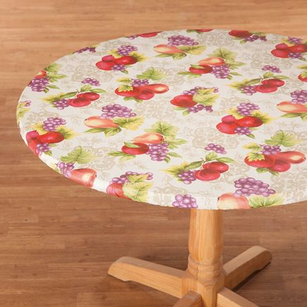 Fruit Harvest Vinyl Elasticized Table Cover-363281