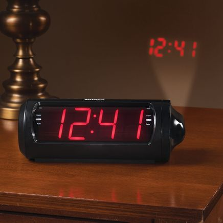 Jumbo Digit Projection Clock/Radio with USB Charging-363325