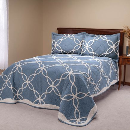 Sophie Tufted Quilt/Sham Twin Blue by OakRidge™-363425