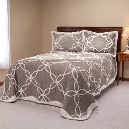 Sophie Tufted Quilt/Sham Twin Taupe by OakRidge™-363429
