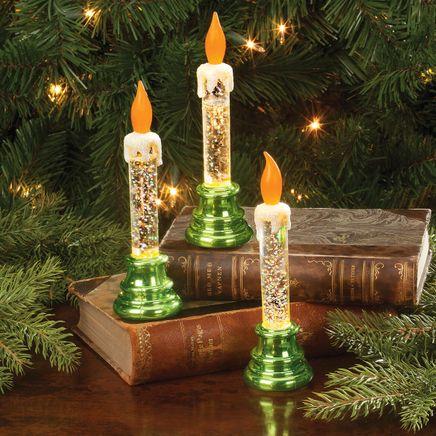 LED Glitter Candles, Set of 3-363523