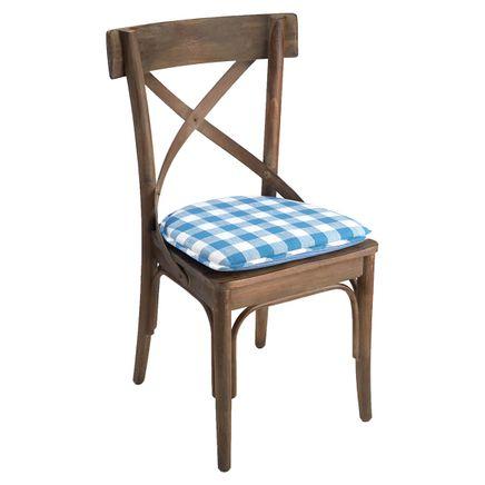 Liza Check Chair Pad-363582
