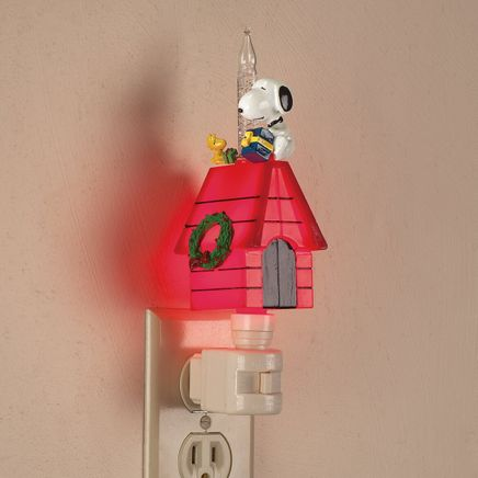 Peanuts® Christmas Snoopy Bubble Night Light-363661