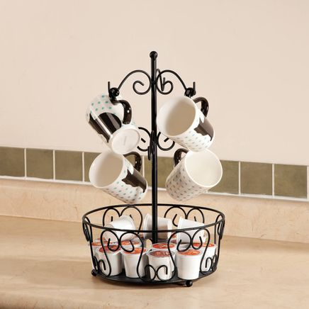 Mug Rack with Coffee Pod Storage-363751