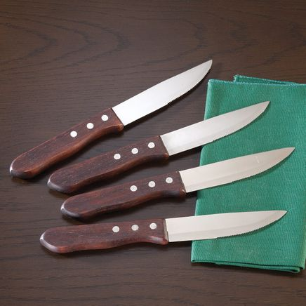 Restaurant Style Steak Knives, Set of 4 by Home Marketplace-363802