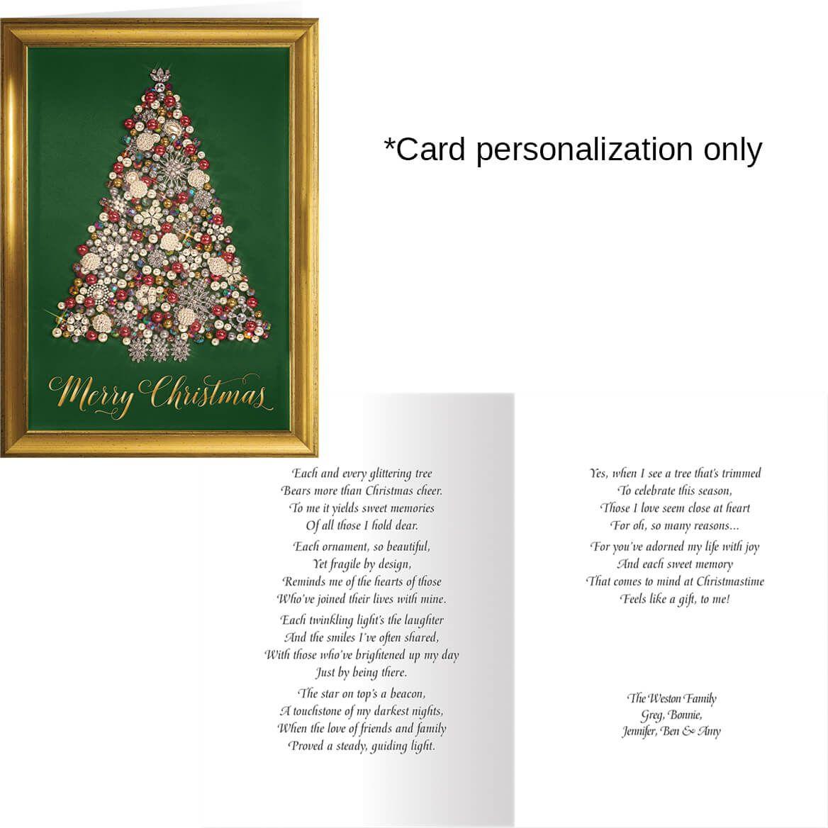 Glittering Tree Christmas Card Set of 20-364016