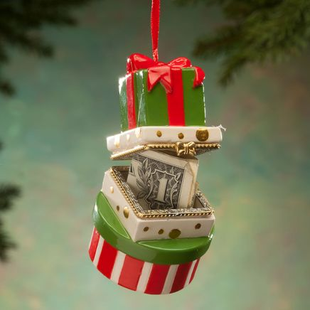 Stacked Presents Trinket Box Ornament-364155