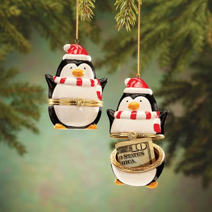 Penguin Trinket Box Ornament-364396