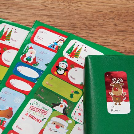 400 Holiday Gift Stickers-364598