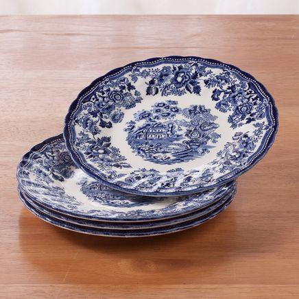 "Tonquin Blue 7 3/4"" Dessert Plates, Set of 4-364706"