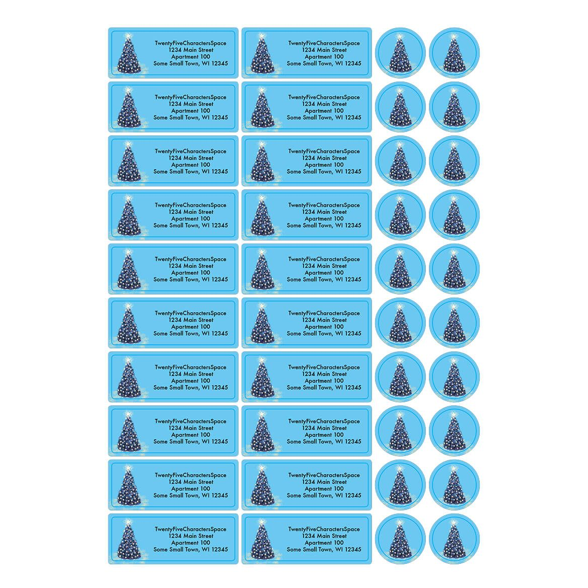 Personalized Christmas Glow Address Labels & Envelope Seals 20-364775