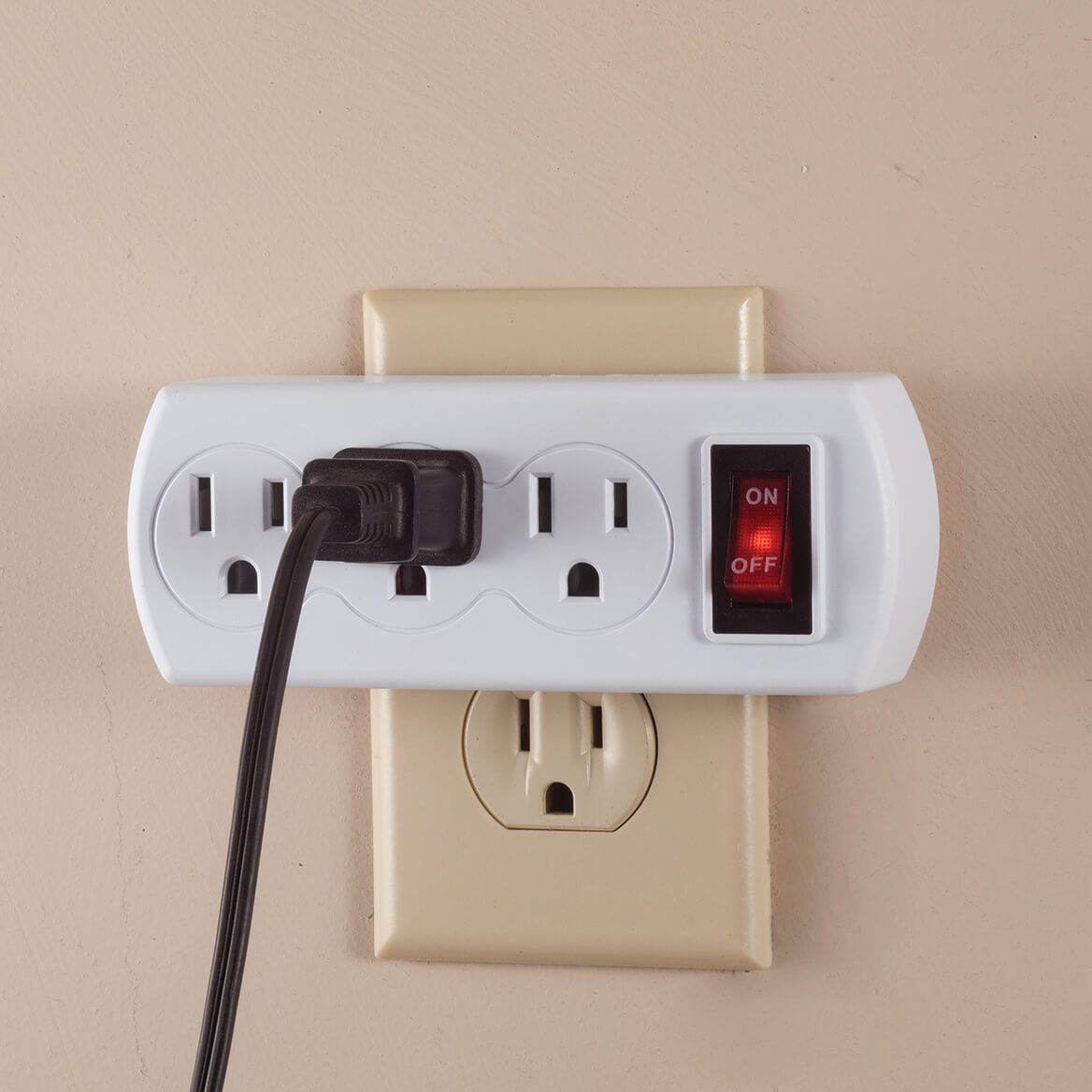 Triple Plug Adapter with Switch-365416