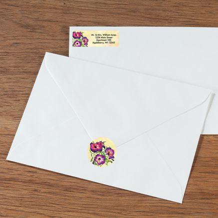 Personalized Floral Labels & Seals 60-365591