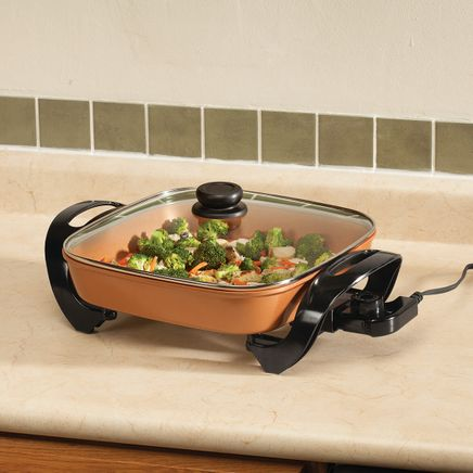 "Home-Style Kitchen™ 15"" Copper Ceramic Electric Skillet-365643"
