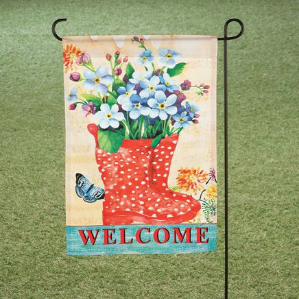 Welcome Rain Boots Garden Flag-365944