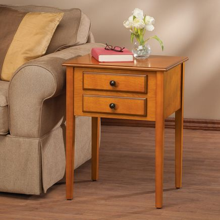 2-Drawer Shaker End Table by OakRidge™-365945