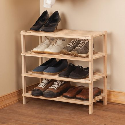 Wooden Shoe Rack by LivingSURE™-366046