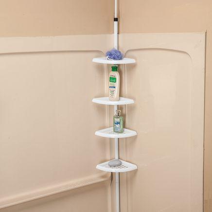 4-Tier Tension Pole Shelf by LivingSURE™-366049