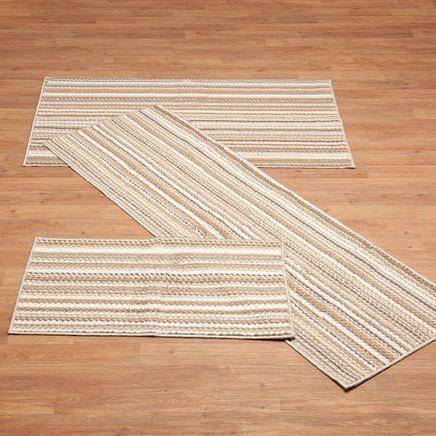 Berber 3-Piece Striped Rug Set-366069