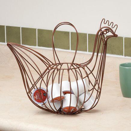 Homestyle Kitchen Rooster Basket-366346