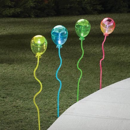Balloon Solar Light Stakes, Set of 4-366633