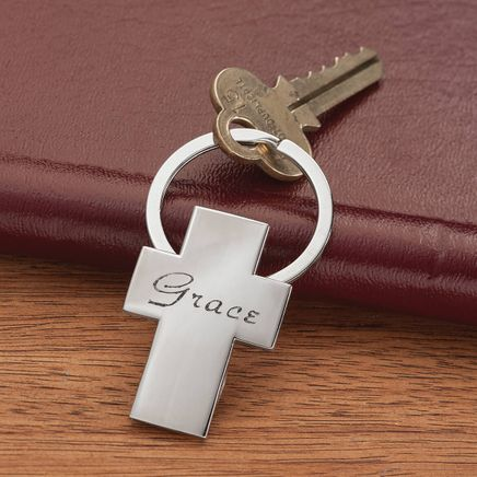 Personalized Cross Key Ring-366706