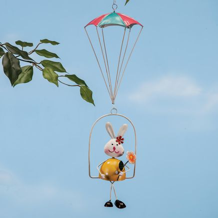 Metal Hanging Bunny in Parachute by Fox River™ Creations-367033