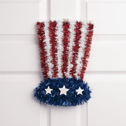 Uncle Sam Glitter Hat Wall Hanging-367150