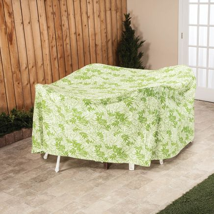 """Leaf Pattern Quilted Table Cover Round, 30""""H x 84"""" Dia.-367518"""